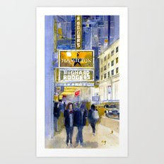 Richard Rodgers - NYC - Broadway - Theater District Art Print