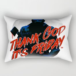 Thank God it's Friday in blue Rectangular Pillow