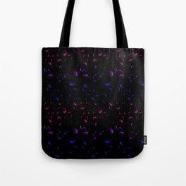 Dandelion Seeds Bisexual Pride (black background) Tote Bag
