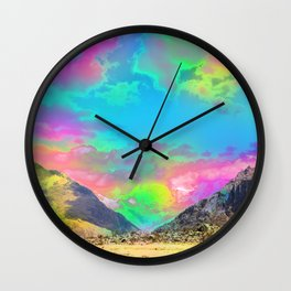 Truly High Mountains Wall Clock