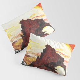 Landscape painting- The Indian - by LiliFlore Pillow Sham
