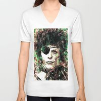 david bowie V-neck T-shirts featuring BOWIE by Vonis
