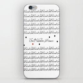 Ceci n'est pas une histoire d'amour iPhone Skin