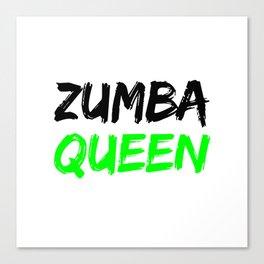 Zumba Queen (Green) Canvas Print