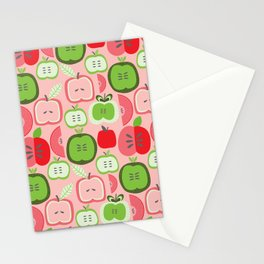 Retro Apples Stationery Cards
