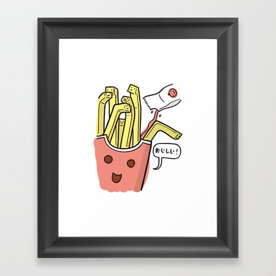 Friends Go Better Together 1/7 - French Fries and Ketchup Framed Art Print