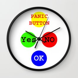 Yes No Buttons jGibney The MUSEUM Society Gifts Wall Clock