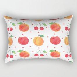 Summer orange red watercolor fruit polka dots pattern Rectangular Pillow
