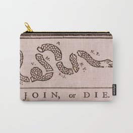 Original Join or Die Benjamin Franklin Political Cartoon Carry-All Pouch