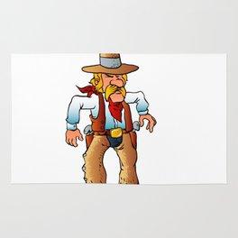cowboy in duel cartoon Rug