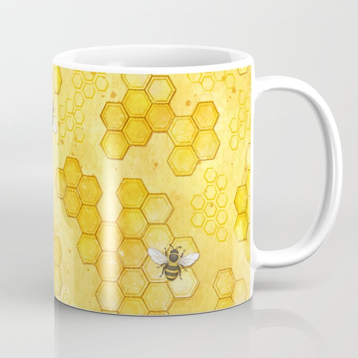Meant to Bee - Honey Bees Pattern Kaffeebecher
