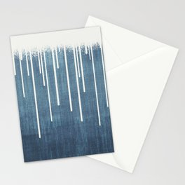 DROPS / Azure Blue, Cool Gray Stationery Cards