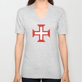 Cross of the Order of Christ Unisex V-Neck