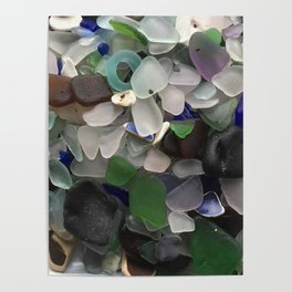 Sea Glass Assortment 3 Poster