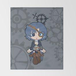 Steampunk Sailor Mercury Throw Blanket
