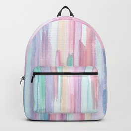 Colorful Watercolor Abstract Pattern Backpack