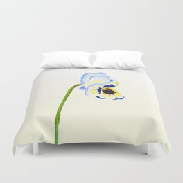 one  pansy Duvet Cover