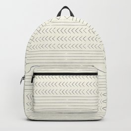 arrow stripes - gray on cream Backpack