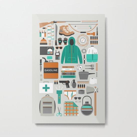 Zombie Survival Kit Metal Print