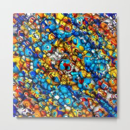 Rounded Colors Abstract Metal Print