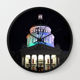 California Capitol Pride - Marriage equality celebration Wall Clock