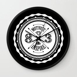 Motivate & Inspire (White) Wall Clock