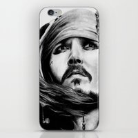 jack sparrow iPhone & iPod Skins featuring Jack Sparrow by Gabriel Fox
