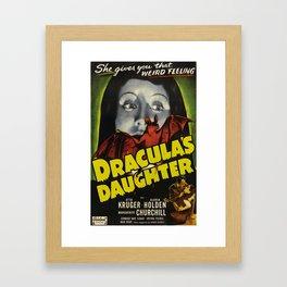 Dracula´s Daughter, vintage horror movie poster Framed Art Print