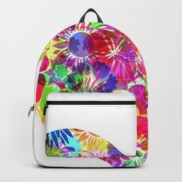 Floral Rainbow Heart Backpack