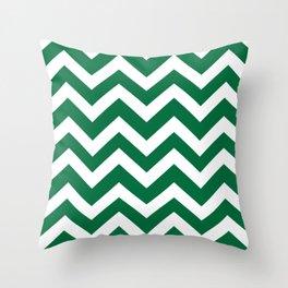 Cadmium green - green color -  Zigzag Chevron Pattern Throw Pillow