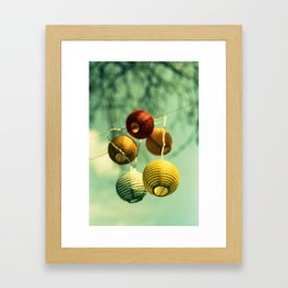 Lampions Framed Art Print