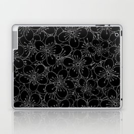 Cherry Blossom Black on White - In Memory of Mackenzie Laptop & iPad Skin