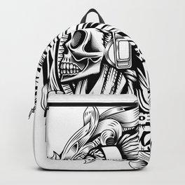 Poison Sound Effect Skull Backpack
