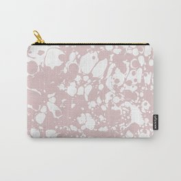 Blush Pink White Spilled Paint Mess Carry-All Pouch