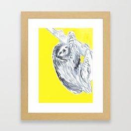 birthday sloth Framed Art Print