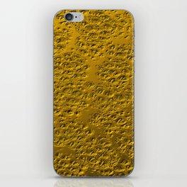 Damaged gold iPhone Skin