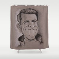 tom hiddleston Shower Curtains featuring Tom by chadizms