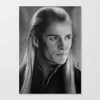 legolas Canvas Prints featuring Legolas Greenleaf by Art by Ana Mendes