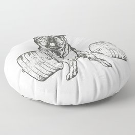English Bulldog Lift Floor Pillow