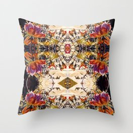 Roses in Motion, A Garden of Roses, Flowers and Vines Throw Pillow