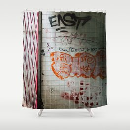Enter the Subway Shower Curtain