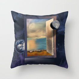 An open door Throw Pillow