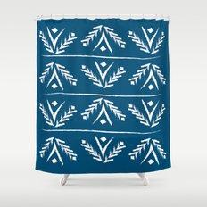 indigo wreath Shower Curtain