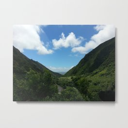 Mountains and Valleys of Hawaii Metal Print
