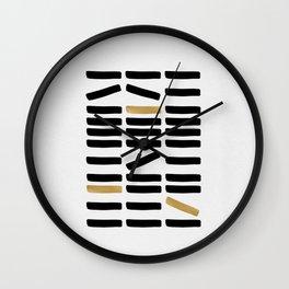 Black and Gold Abstract Wall Clock