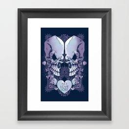 No Love Lost Framed Art Print