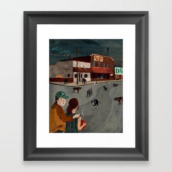 City Of Dogs Framed Art Print