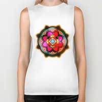sacred geometry Biker Tanks featuring Sacred by Sircasm