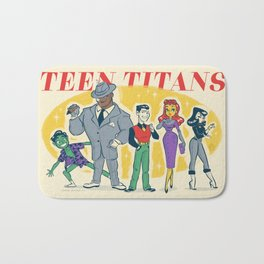 Retro Teen Titans Bath Mat