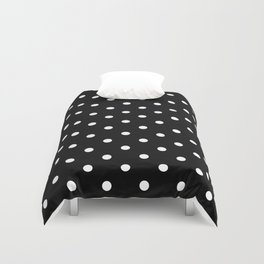 Black & White Polka Dots Duvet Cover
